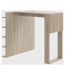 mesa c/ painel multiuso p/ banquetas aveiro/aveiro be mobiliário bege