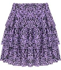 leopard rok lila