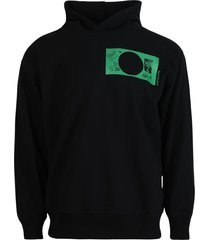 black and green graphic print hoodie