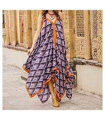 cotton maxi dress, 'magical bliss' (india)
