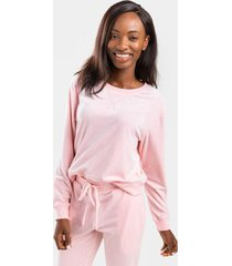 vickey velour sweatshirt - blush