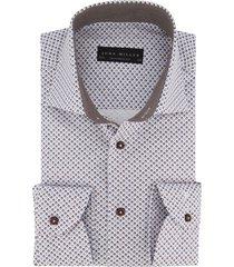 tailored fit john miller overhemd wit dessin