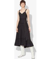 proenza schouler cotton poplin tiered dress black 0