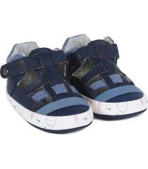 sandalia los lances recién nacido azul marino black and blue