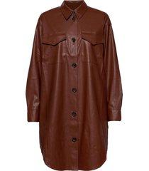 marie shirt dress knälång klänning brun designers, remix
