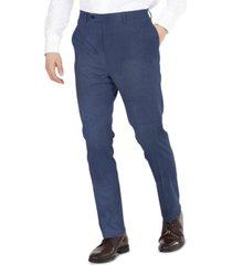 dkny men's blue tic modern-fit performance stretch suit separates pants
