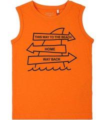 camiseta esqueleto naranja-negro name it