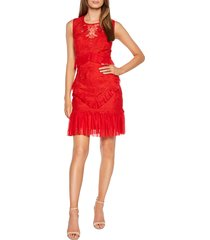 women's bardot francesca lace sheath dress, size small - red