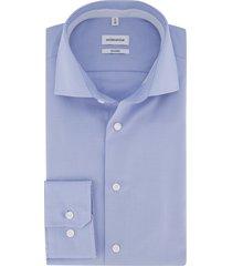 overhemd seidensticker blauw shaped fit