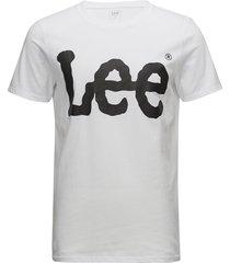 logo tee white t-shirts short-sleeved vit lee jeans