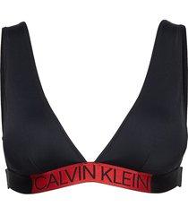 high apex triangle-r bikinitop svart calvin klein