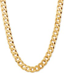 """curb link 24"""" chain necklace in 18k gold-plated sterling silver"""