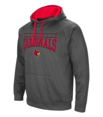 colosseum louisville cardinals men's poly performance hooded sweatshirt