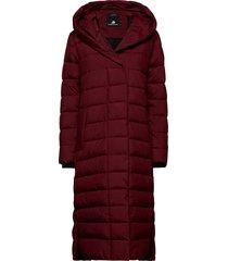 stella wns coat 2 gevoerde lange jas rood didriksons