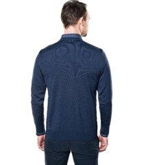 sweter vetica półgolf niebieski