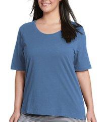 jockey plus size everyday essentials cotton short sleeve pajama t-shirt