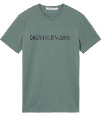 calvin klein j30j307856 logo slim t-shirt ldt duck green -