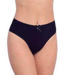 calcinha vip lingerie tangão algodão cintura alta preta
