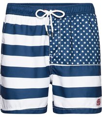 docksides flag swim shorts badshorts blå sebago