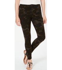 style & co camouflage-print leggings, created for macy's
