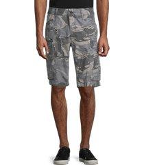jetlag men's camo-print cargo shorts - grey camo - size 33