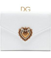dolce & gabbana devotion leather wallet - white
