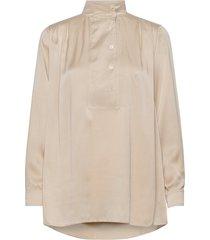 pearl shirt blouse lange mouwen beige hope