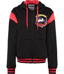 moschino full zip hoodie