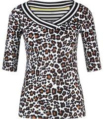 marccain sports - ls 4807 j06 - shirt met luipaardprint