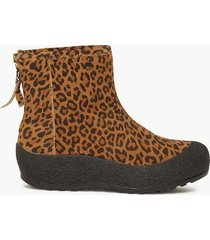duffy leather warm boot flat boots