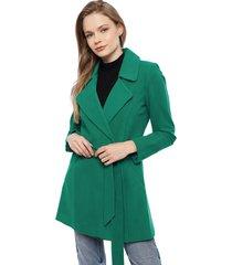abrigo io   verde - calce regular