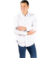 camisa blanca pato pampa corte clasico rayas finas