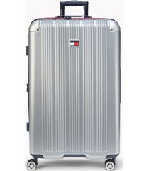 """tommy hilfiger women's 28"""" spinner suitcase silver -"""