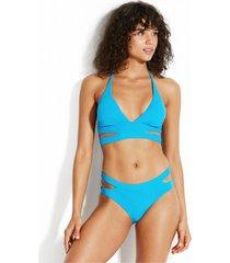seafolly active halter bikini blue