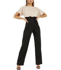 quiz two-tone jumpsuit