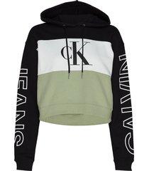blocking statement logo hoodie hoodie trui multi/patroon calvin klein jeans