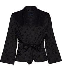 kimono blazer in special tonal jacquard quality blazer kavaj svart scotch & soda