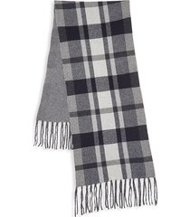 saks fifth avenue women's wool & cashmere scarf - navy combo