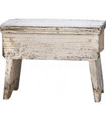 stołek taboret drewniany old french crema