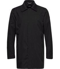 technical twill coat trench coat rock svart lindbergh