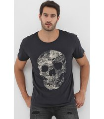 camiseta jack & jones caveira preta - preto - masculino - algodã£o - dafiti