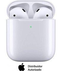 audífonos airpods con estuche de carga inalámbrica bluetooth blanco apple