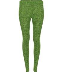 leggings deportivo unicolor jaspeado color verde, talla xl