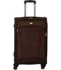 maleta de viaje mediana en lona con cuatro ruedas giratorias 94868