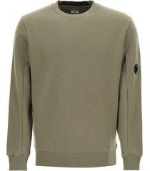 c.p. company lens diagonal raised fleece sweatshirt