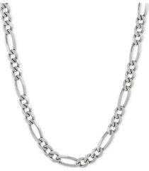 """figaro 22"""" chain necklace in sterling silver"""
