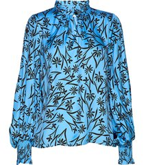 jason blouse lange mouwen blauw munthe