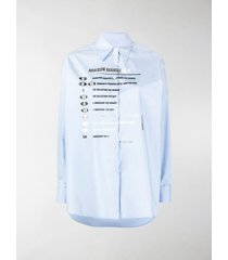 mm6 maison margiela printed long-sleeved shirt