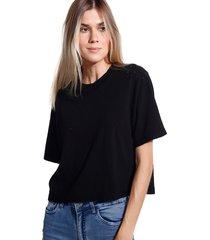 camiseta john john basic black malha preto feminina (preto, gg)