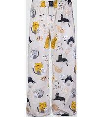 spodnie męskie do spania piżama koty